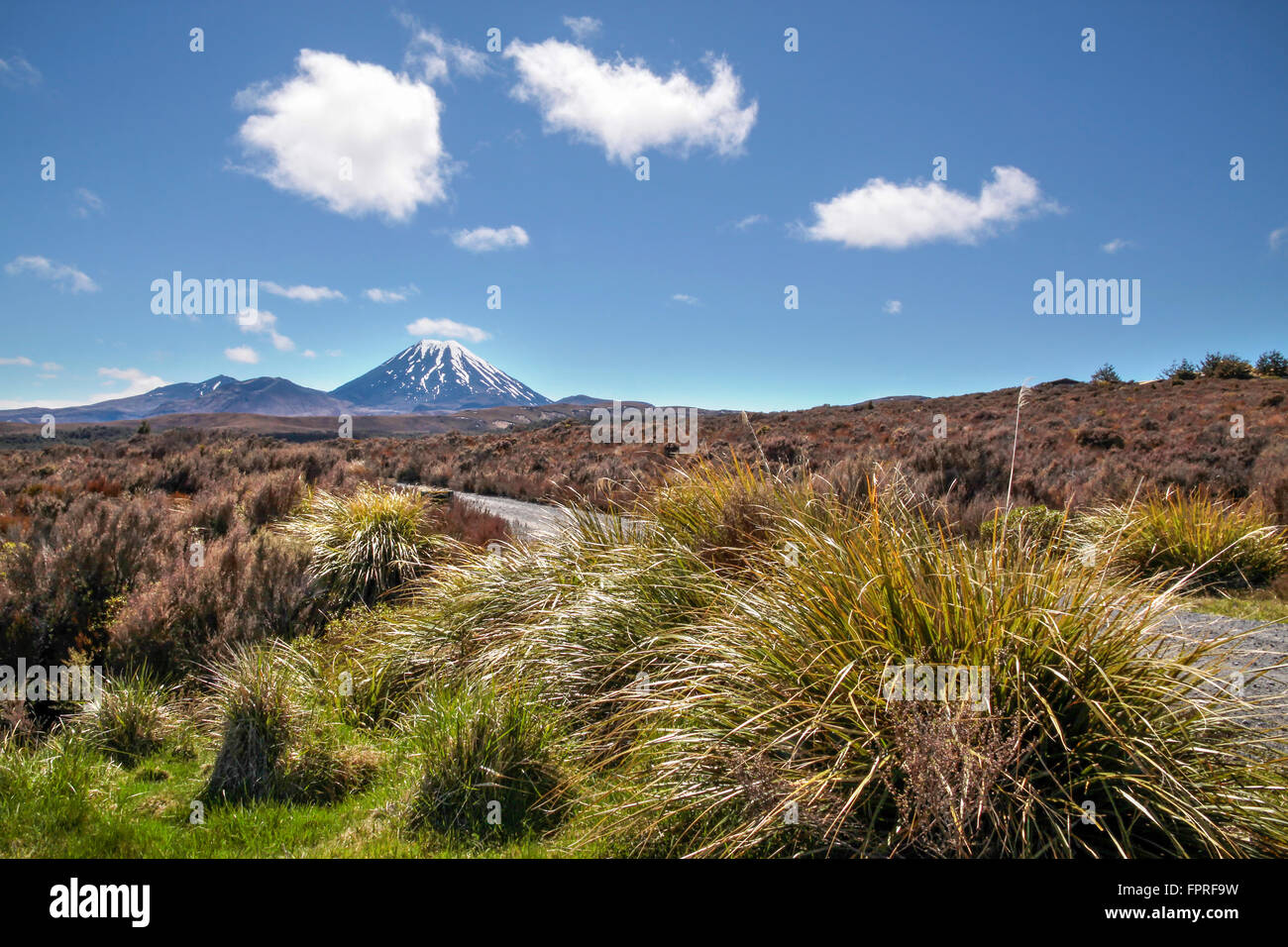 Mount Ngauruhoe in Tongariro National Park, Manawatu-Wanganui, New Zealand - Stock Image