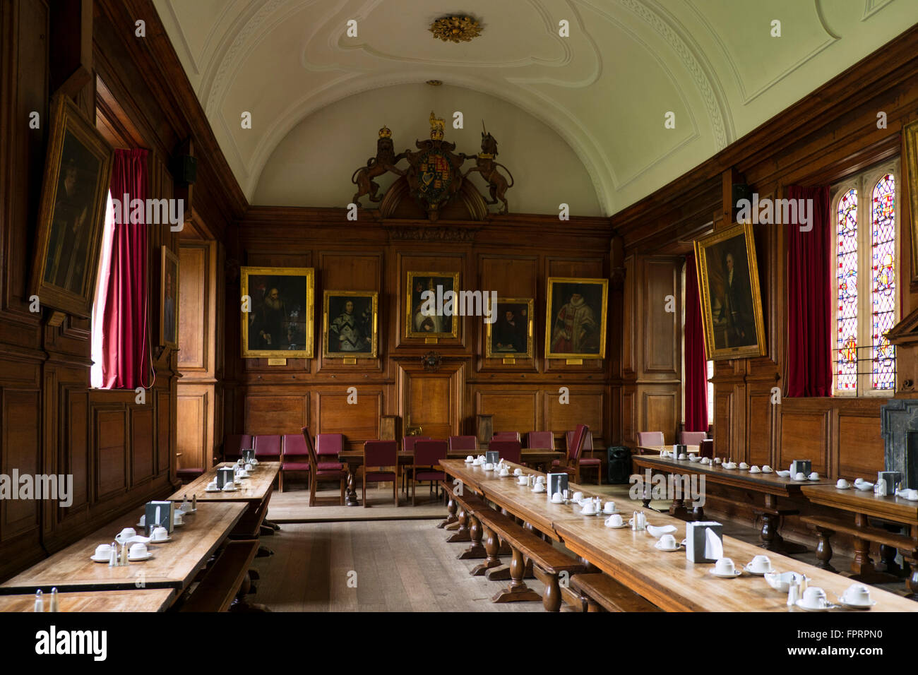 Dining hall at Brasenose college, Oxford - Stock Image