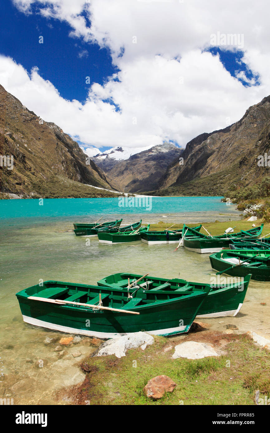 Peru, Ancash, Cordillera Blanca, Huascaran National Park, Llanganuco lake, Santa Cruz trek, Huascaran National Park - Stock Image