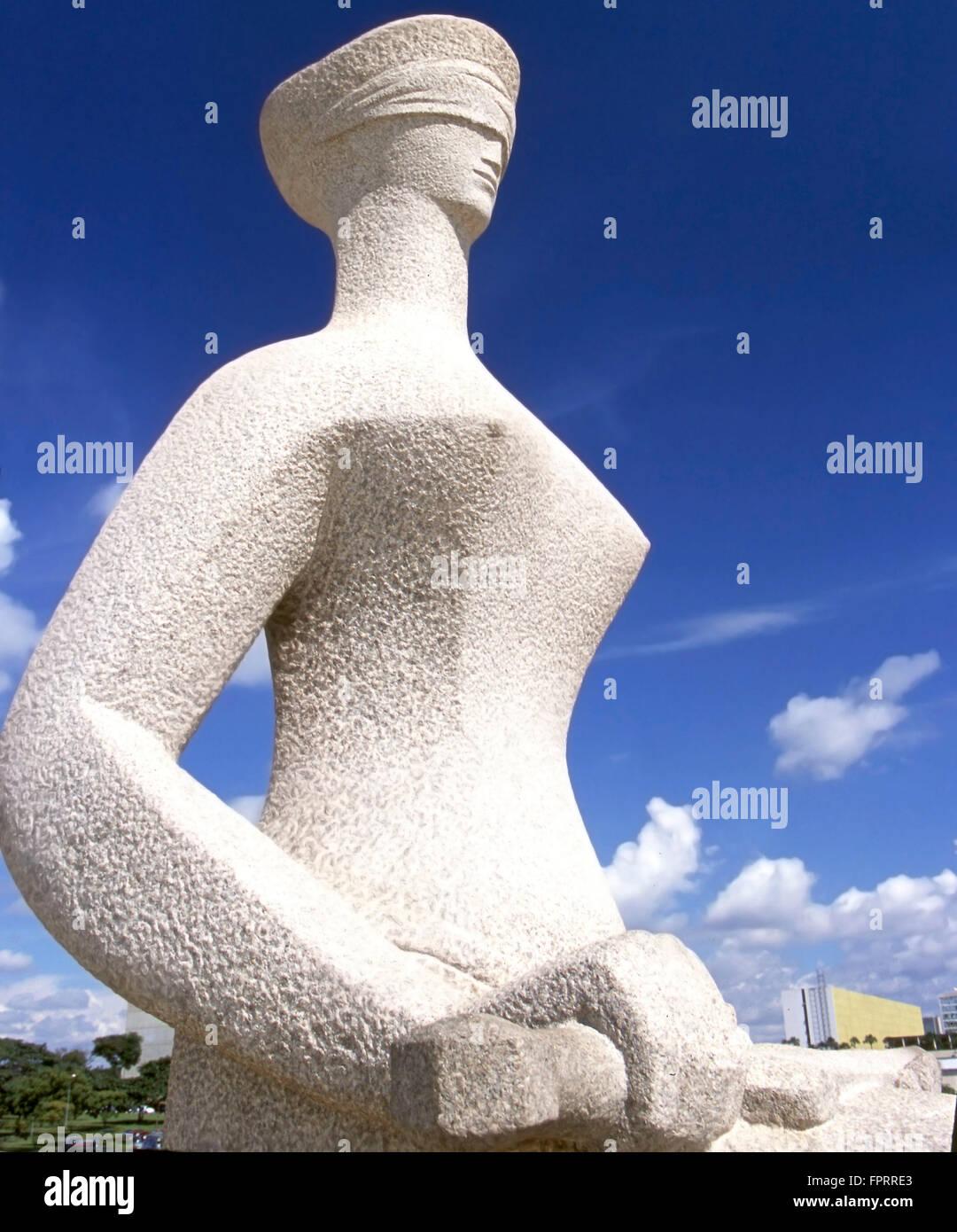 Alfredo Ceschiatti's statue of blind justice in Brasilia - Stock Image