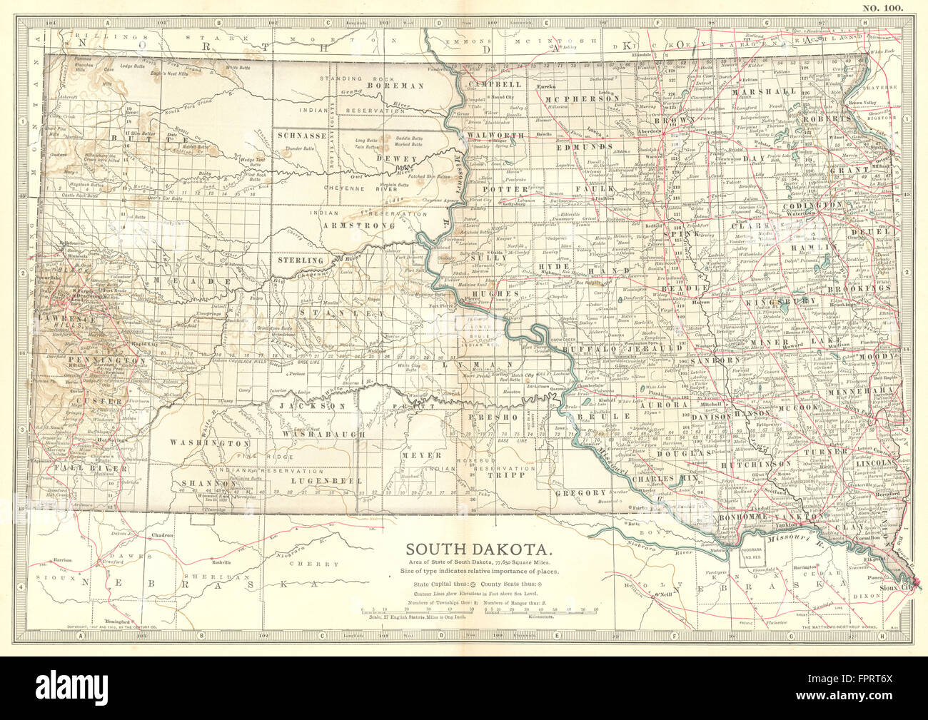 South Dakota State Map Shows Former Counties Not In Any County