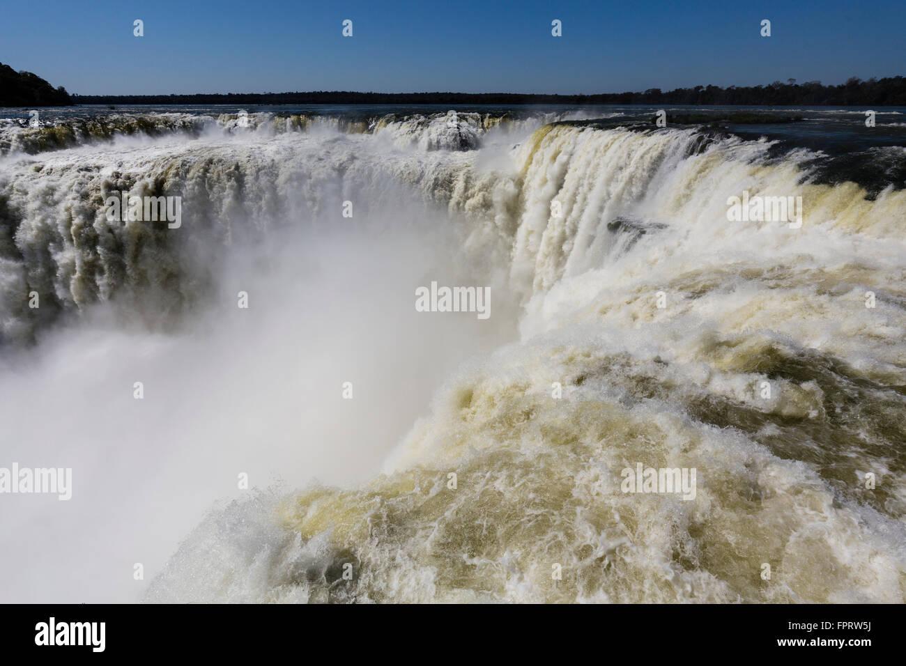 'Garganta del Diabolo' or 'Devil's Throat', Iguazu Falls, Argentina - Stock Image