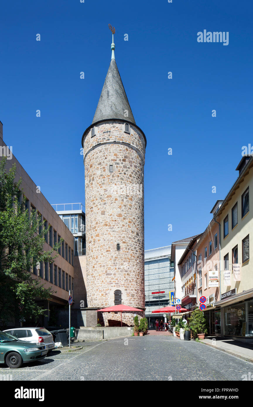 Druselturm, part of the medieval fortifications of 1415, Kassel, Hesse, Germany - Stock Image