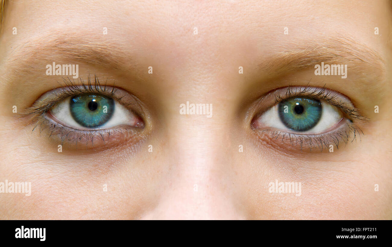 Close up of a young woman eyes - Stock Image