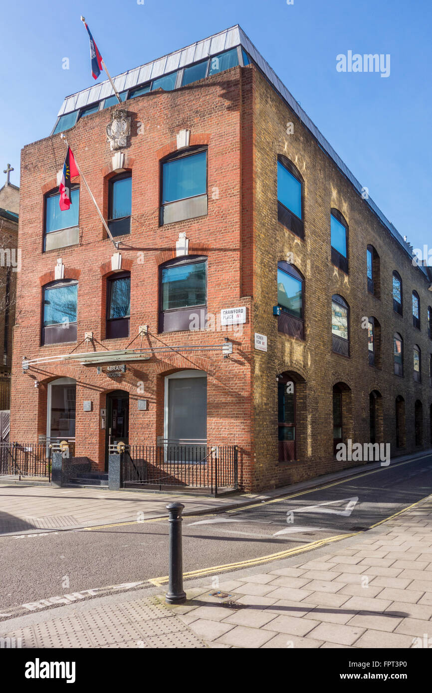 45 Crawford Place which houses the Belize High Commission and the High Commission for Antigua and Barbuda, London, - Stock Image