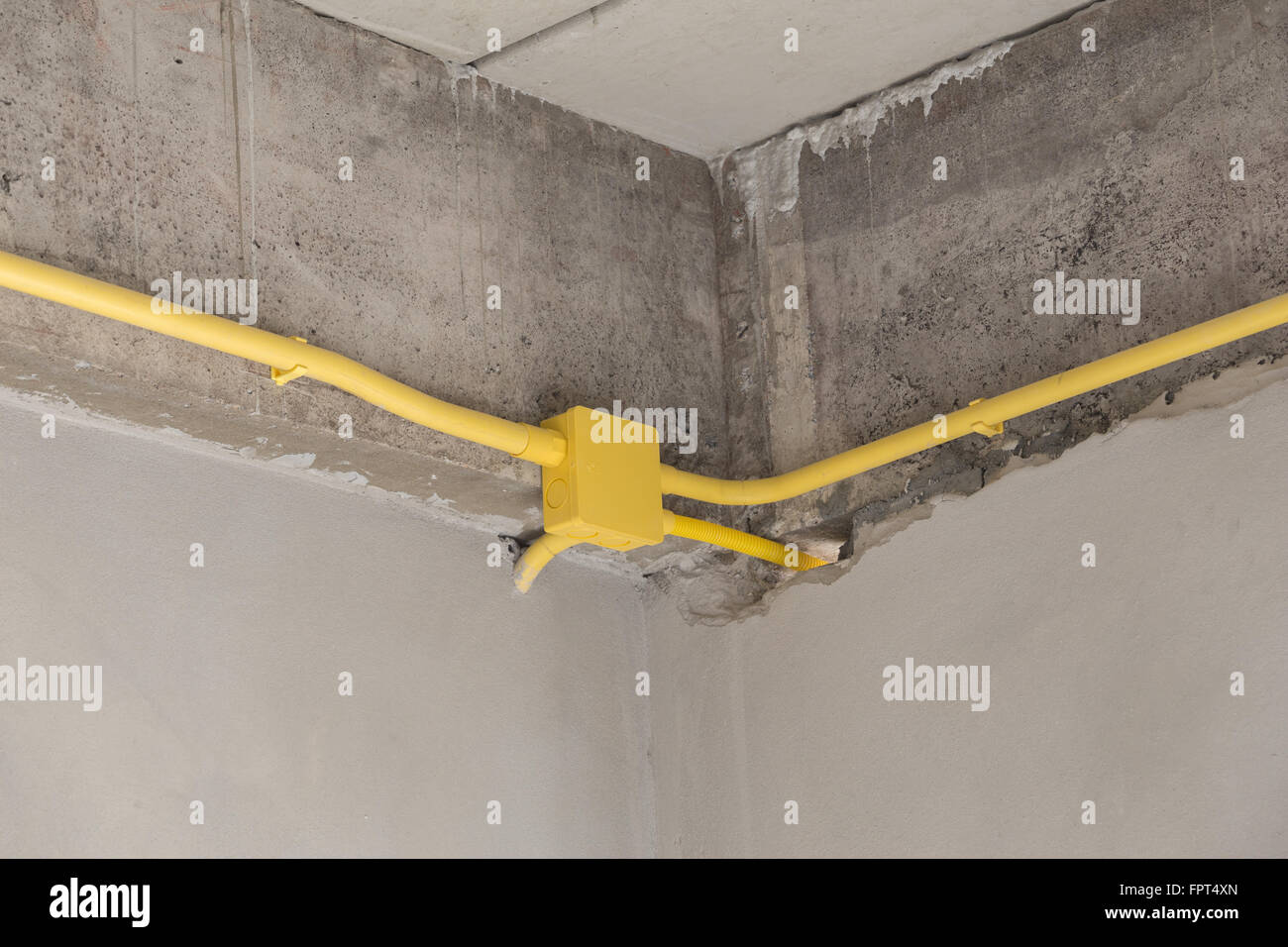 Concrete Electrical Wiring Browse Data Diagram Pipes Yellow Pvc For Boxes And Wires Buried On Aircraft