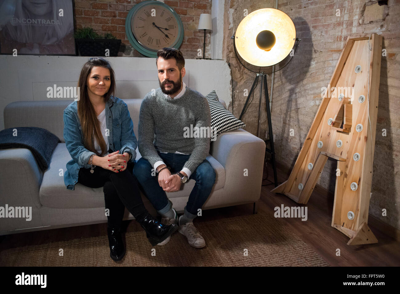 Hillsong Church Barcelona, Spain. Juan Mejías and Damsy Mich, Lead Pastors in Barcelona. Hillsong Church is - Stock Image
