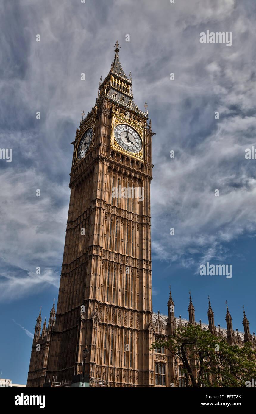 Big Ben, Houses of Parliament London - Stock Image