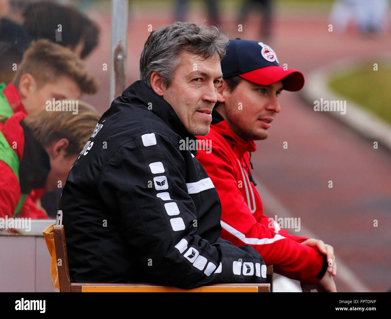 sports, football, Regional League West, 2015/2016, Rot Weiss Oberhausen versus 1. FC Cologne U21 3:2, Stadium Niederrhein - Stock Image