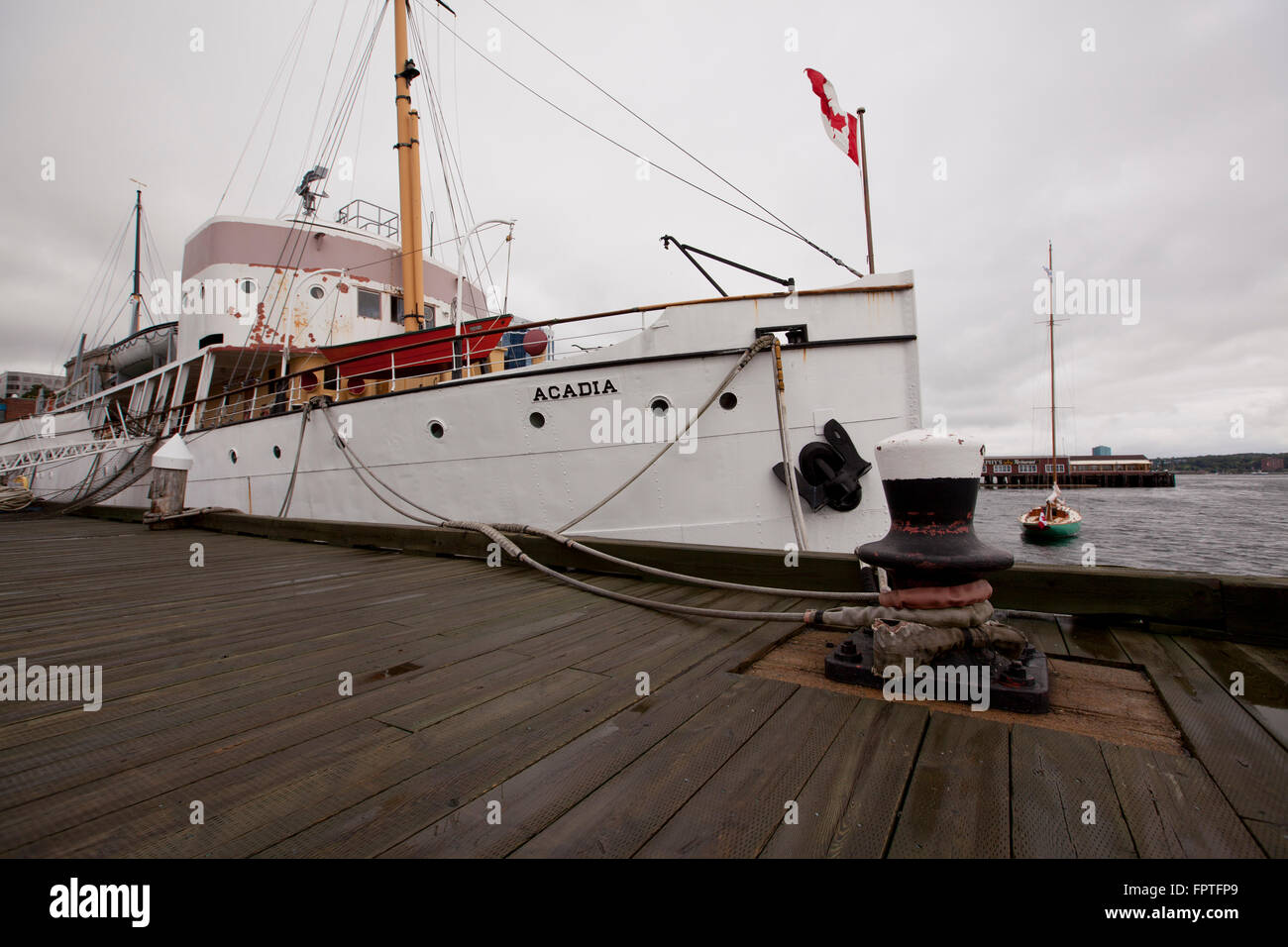 CSS Acadia was the first vessel specifically designed and built to survey Canada's northern - Stock Image