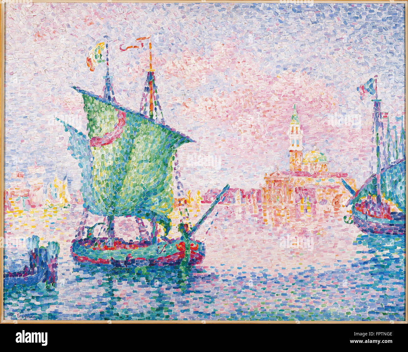 Paul Signac - Venice -  The Pink Cloud -  1909 - Stock Image