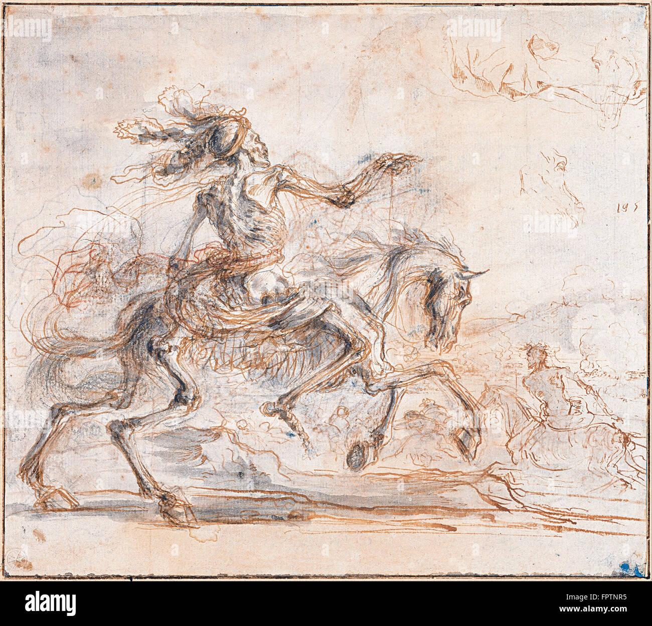 Stefano della Bella - Death on the Battlefield - Stock Image