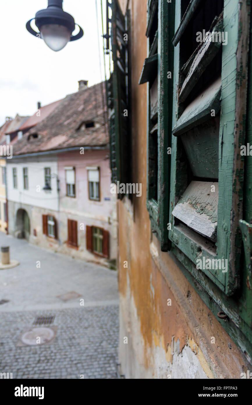 Goldsmiths' Stairway in Sibiu, Romania - Stock Image