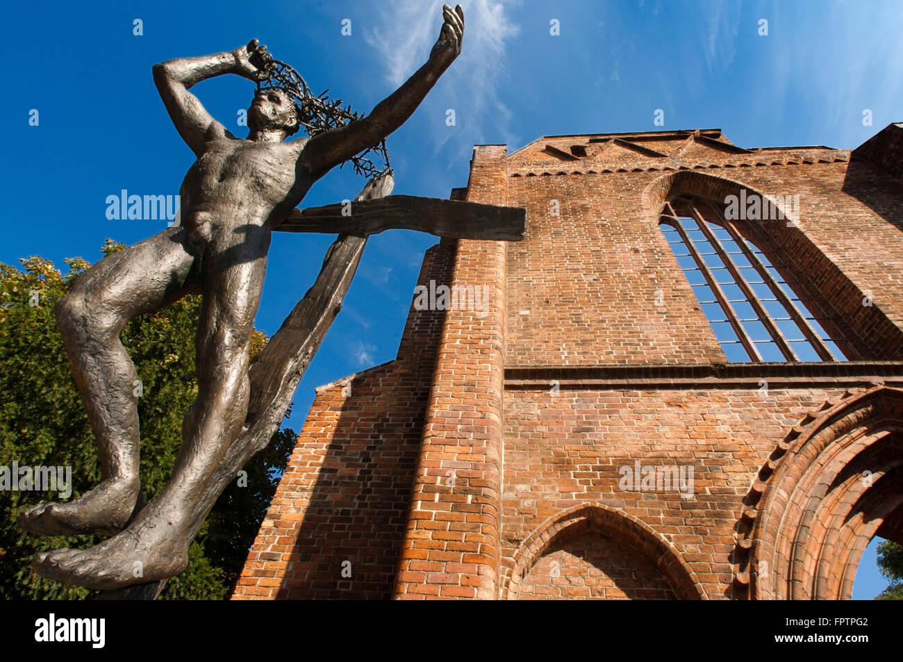 Franziskaner Klosterkirche (Franciscan Friary Church) ruin, Berlin, Germany. In West Berlin, near Bahnhof Zoo, is - Stock Image