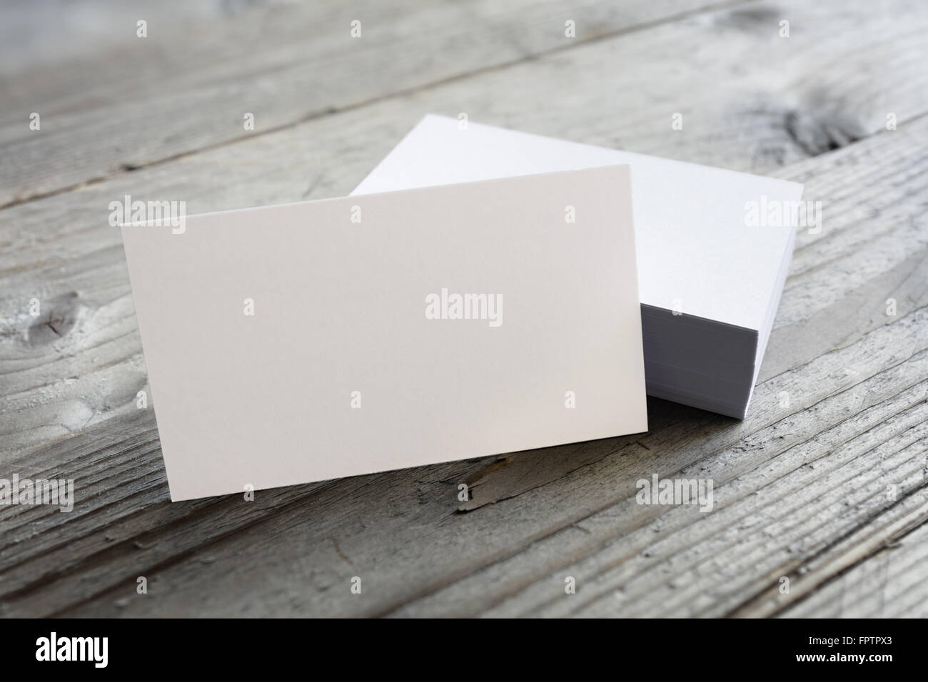 Business cards blank mockup on wooden background stock photo business cards blank mockup on wooden background reheart Image collections