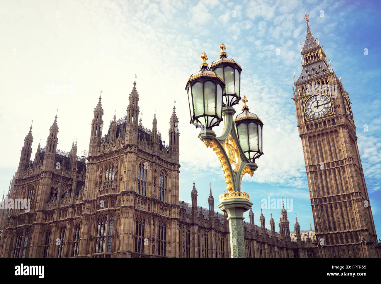 Big Ben and the houses of parliament in London - Stock Image