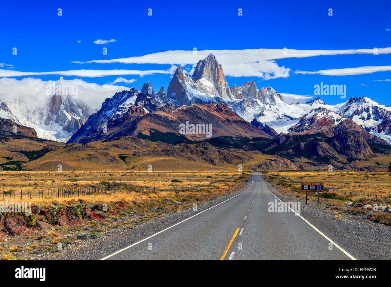 El Chalten, Santa Cruz, Patagonia Argentina - Stock Image