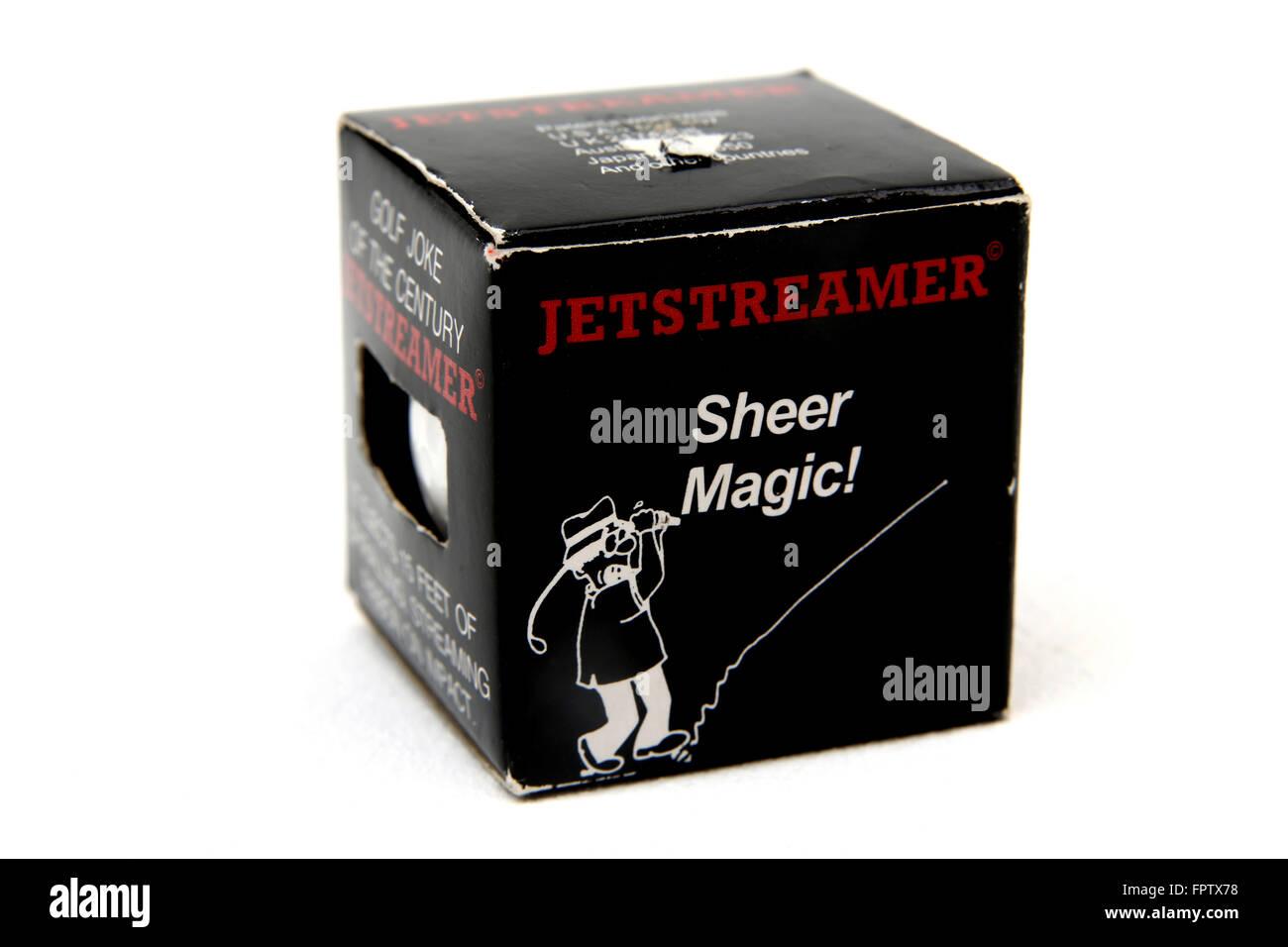 Practical Joke Golf ball Jetstreamer - Stock Image