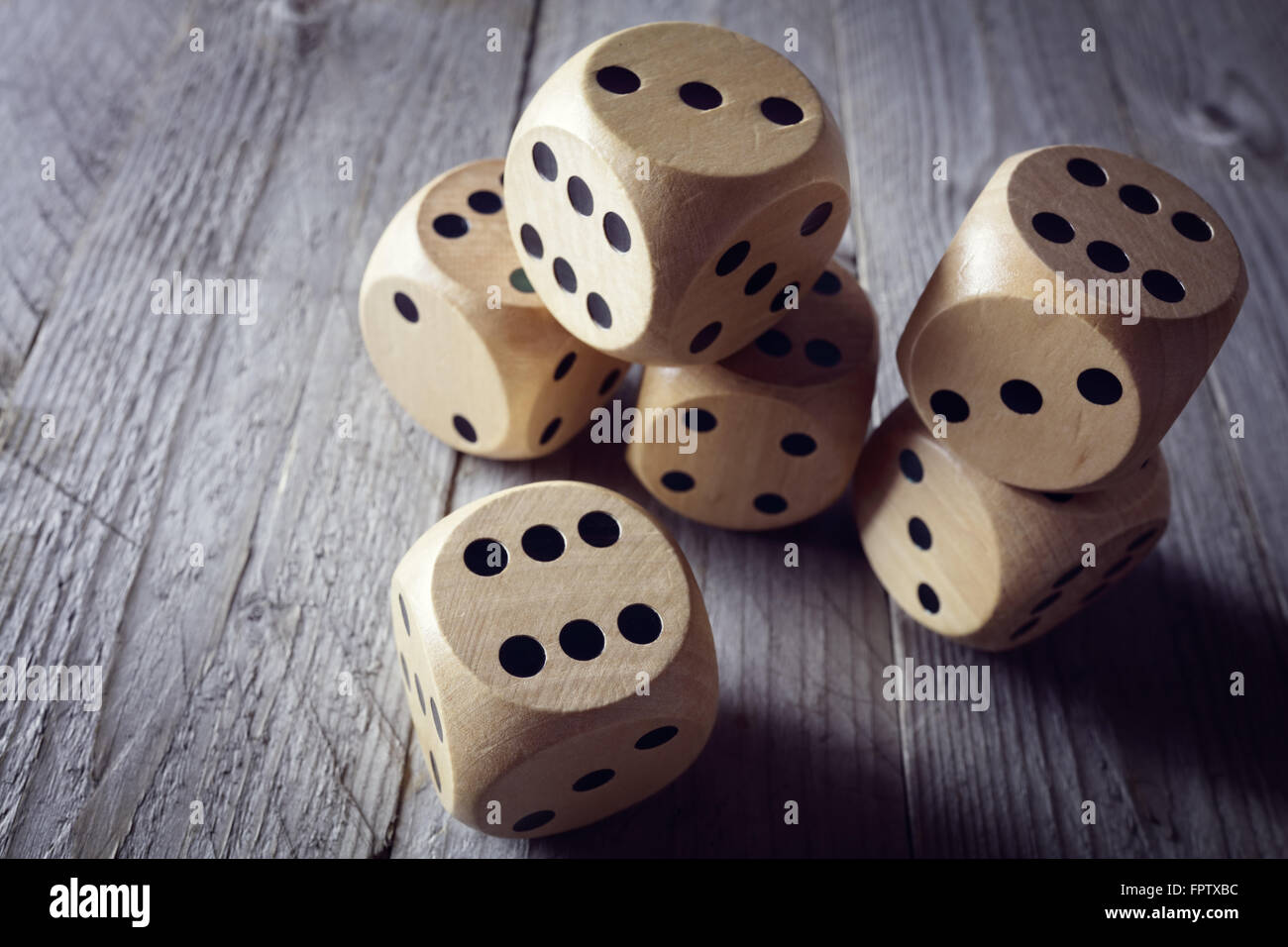 Rolling the dice concept for business risk, chance, good luck or gambling - Stock Image