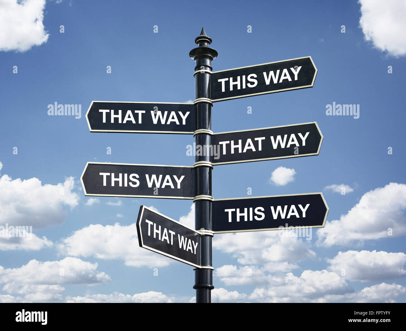 Which way to go - Stock Image