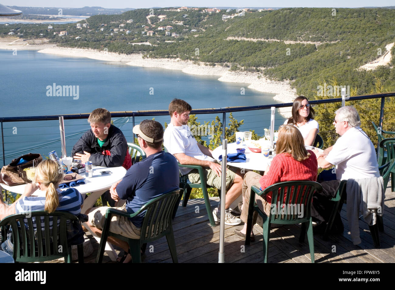Perched Among The Pines Above Lake Travis, The Oasis Is A Popular Spot For  Alfresco