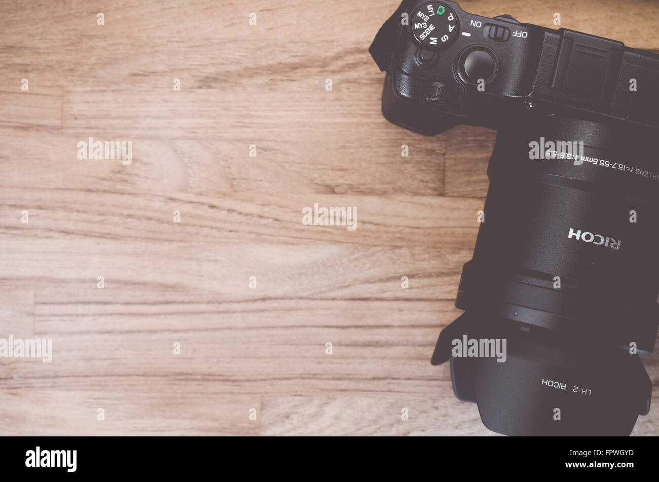 Aps C Stock Photos Images Alamy Ricoh Strap St 3 W Gxr A16 Camera Body And Zoom Lens Photography Gear On A