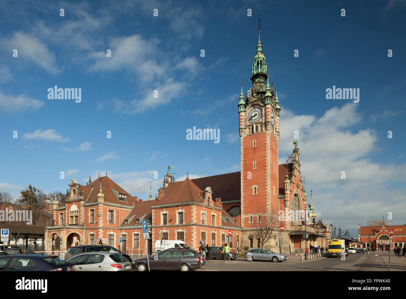 Morning at Main Station in Gdansk, Poland. - Stock Image