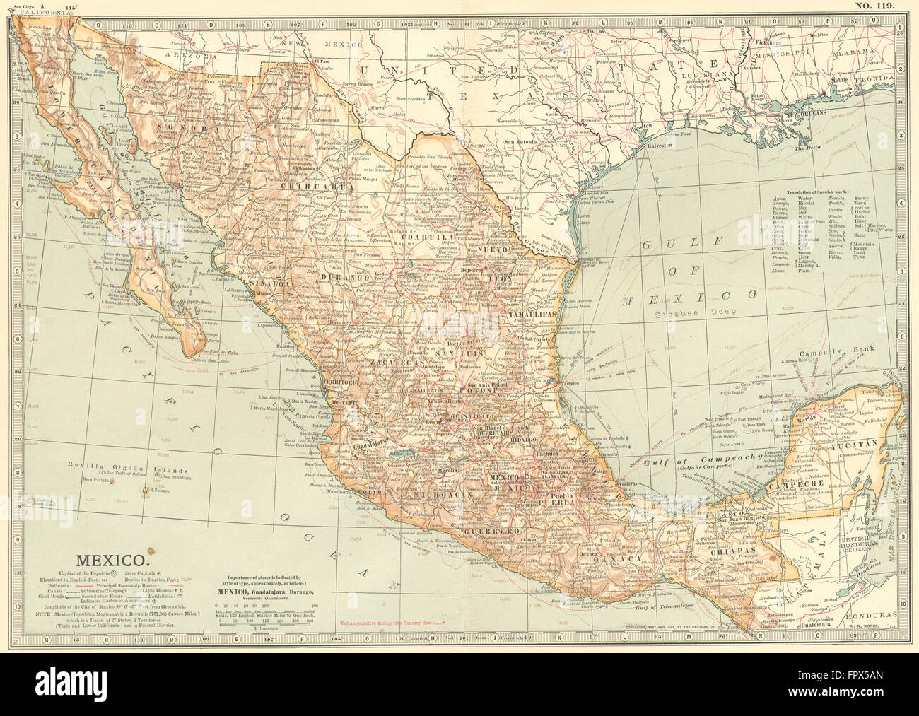 Map Of California Mexico.Map California Mexico Stock Photos Map California Mexico Stock