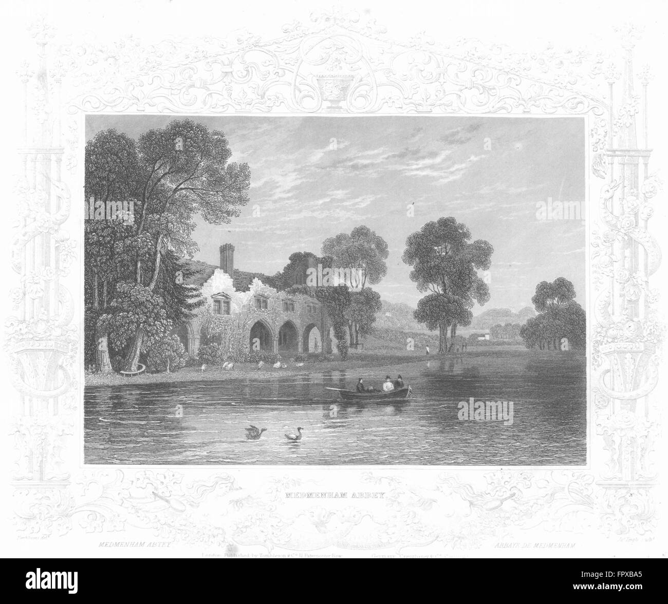 BUCKS: Medmenham Abbey: Tombleson, antique print 1830 Stock Photo