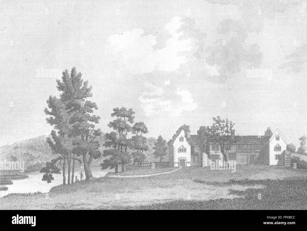 BUCKS: Medmenham Abbey Henley, Thames: Grose: 18C, antique print 1795 Stock Photo