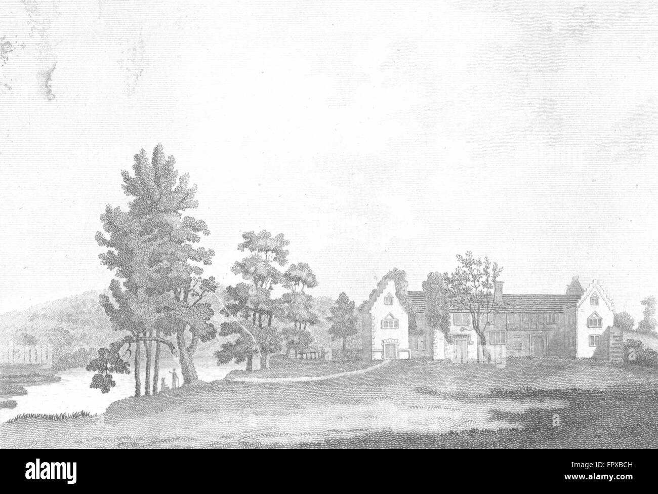 BUCKS: Medmenham Abbey Henley, Thames: Grose: 18C, antique print 1795 Stock Photo