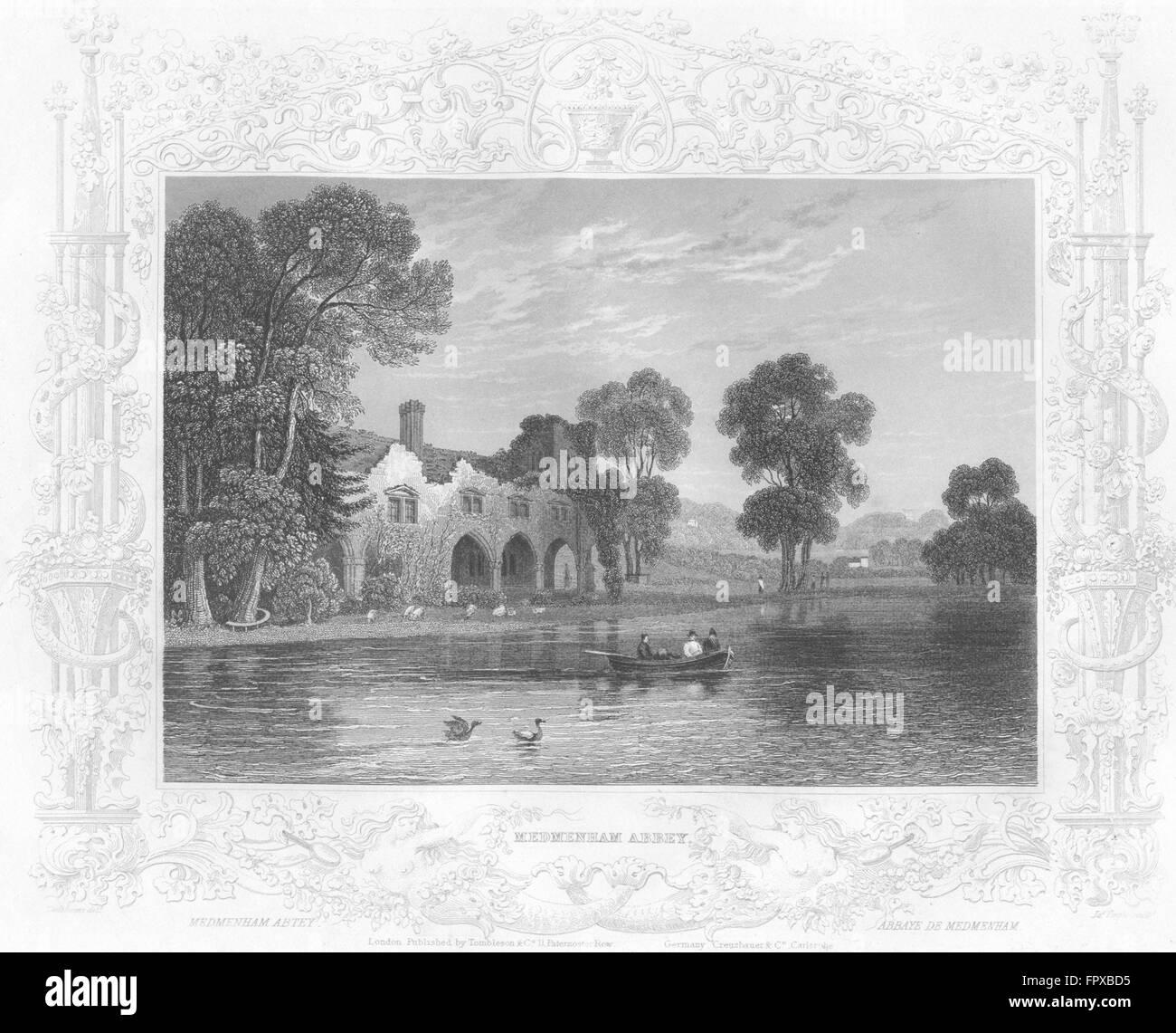 BUCKS: Medmenham Abbey: Tombleson, antique print 1840 Stock Photo