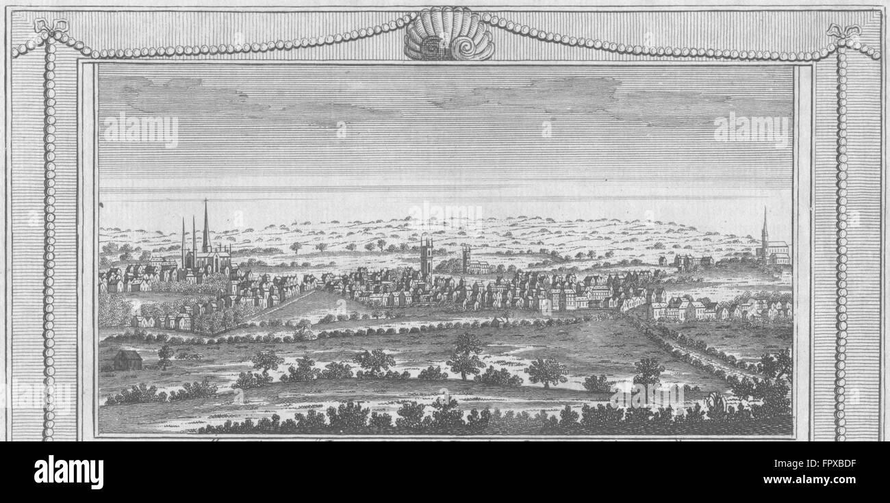 STAFFS: Litchfield, in Staffordshire: Hogg, antique print 1784 - Stock Image