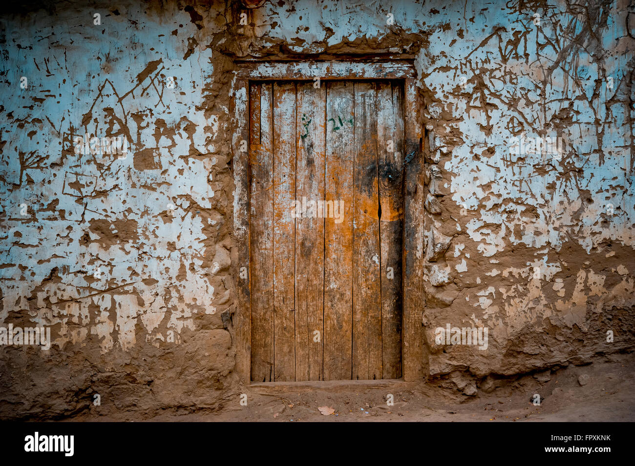 old doors in Hunza Village - Stock Image