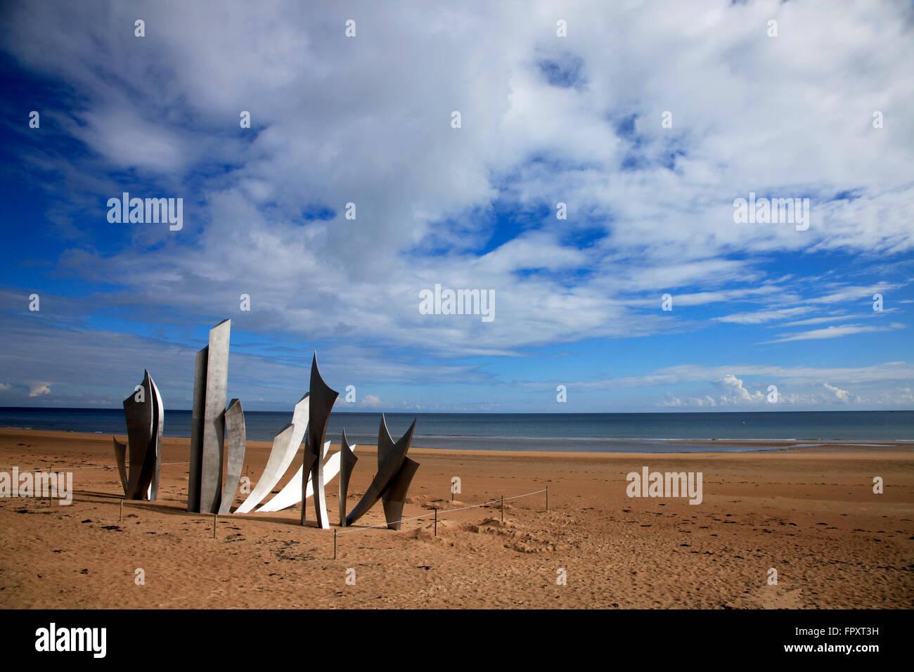 Omaha Beach, Normandy, France - Stock Image