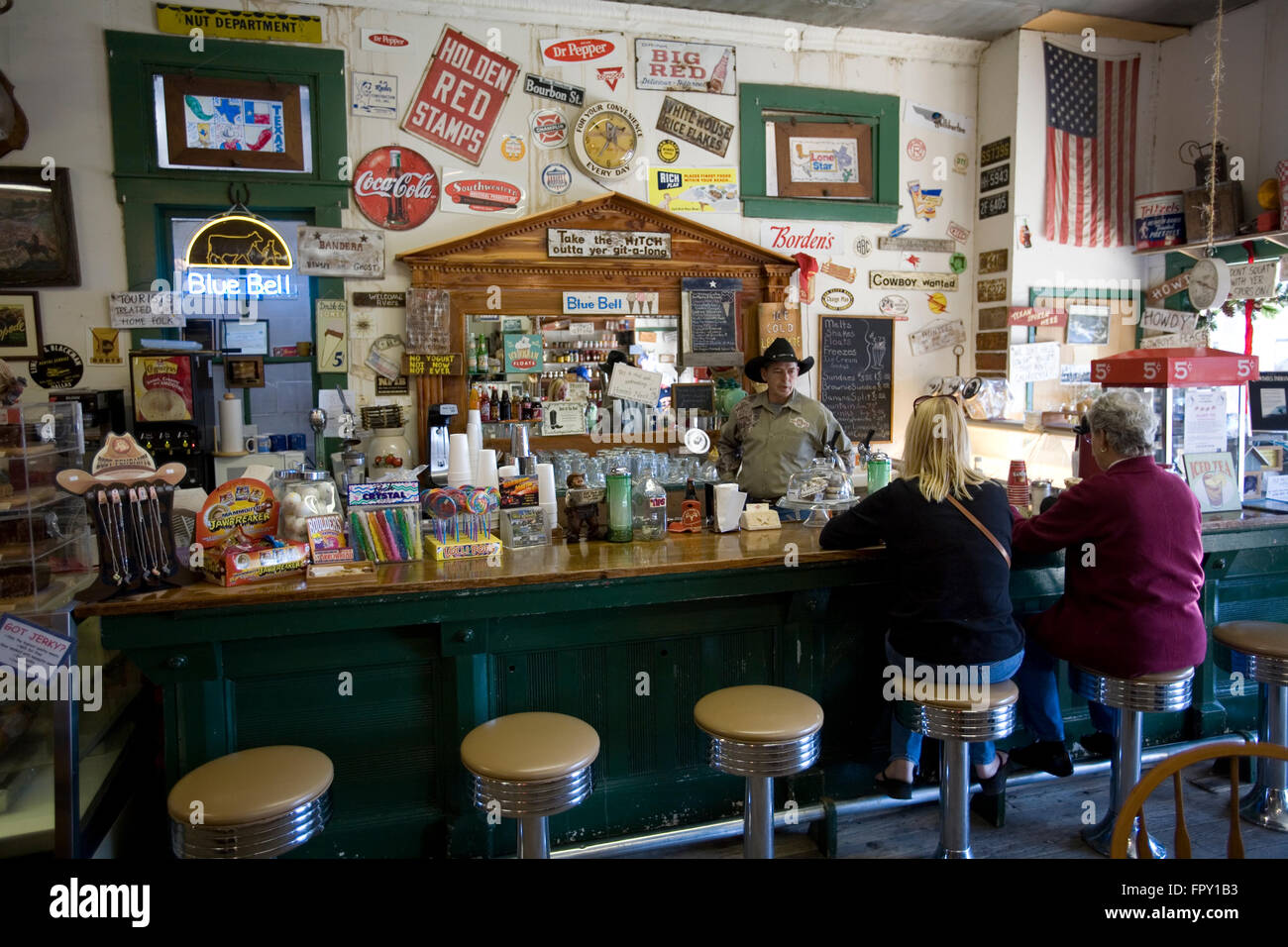 The Bandera General Store Features An Old Time Soda Fountain Stock