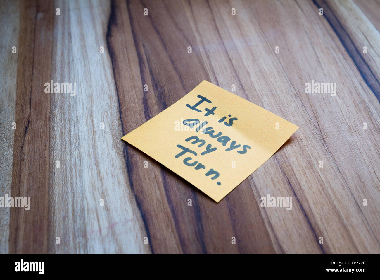 concept for self help using empowering words on a sticky note - Stock Image