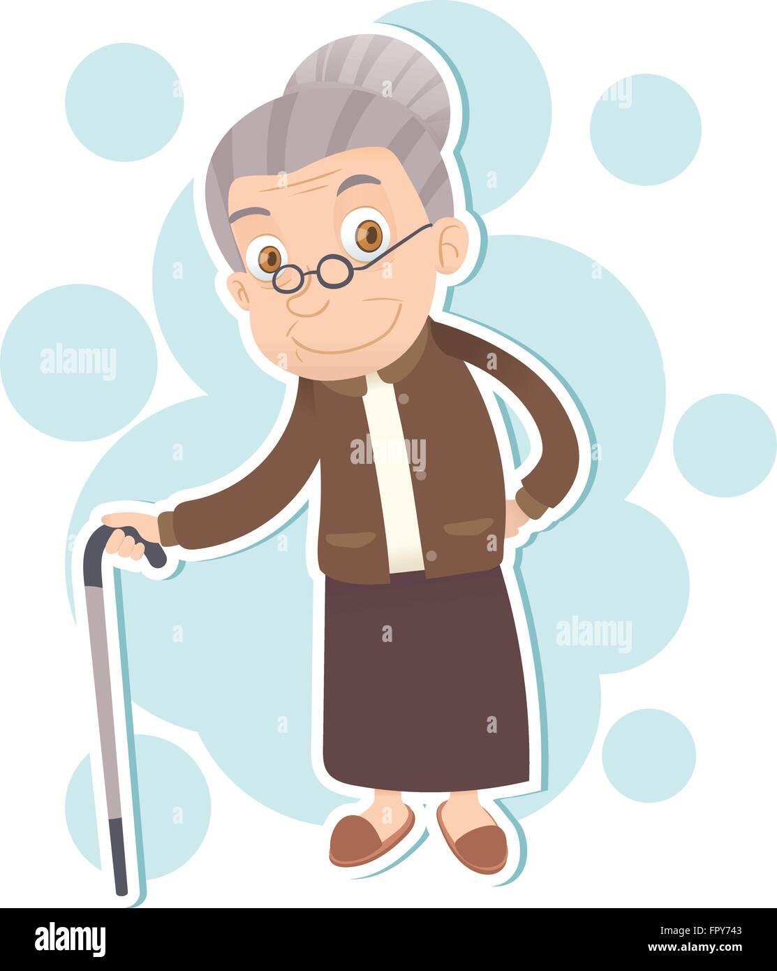 cartoon old lady stock photos cartoon old lady stock images alamy rh alamy com cartoon old woman face cartoon old woman face