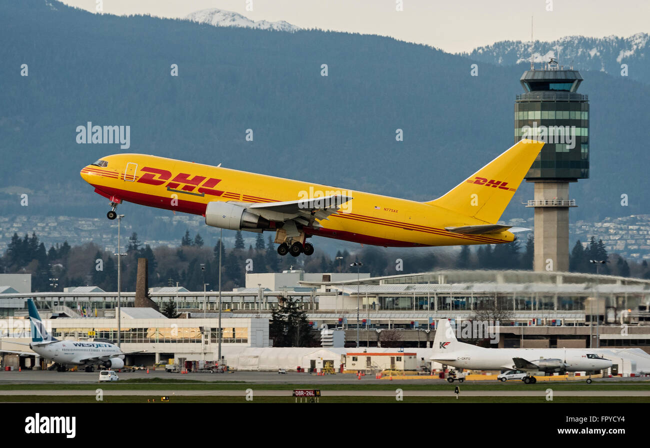 ABX Air Boeing 767 (N775AX) package freighter painted in DHL