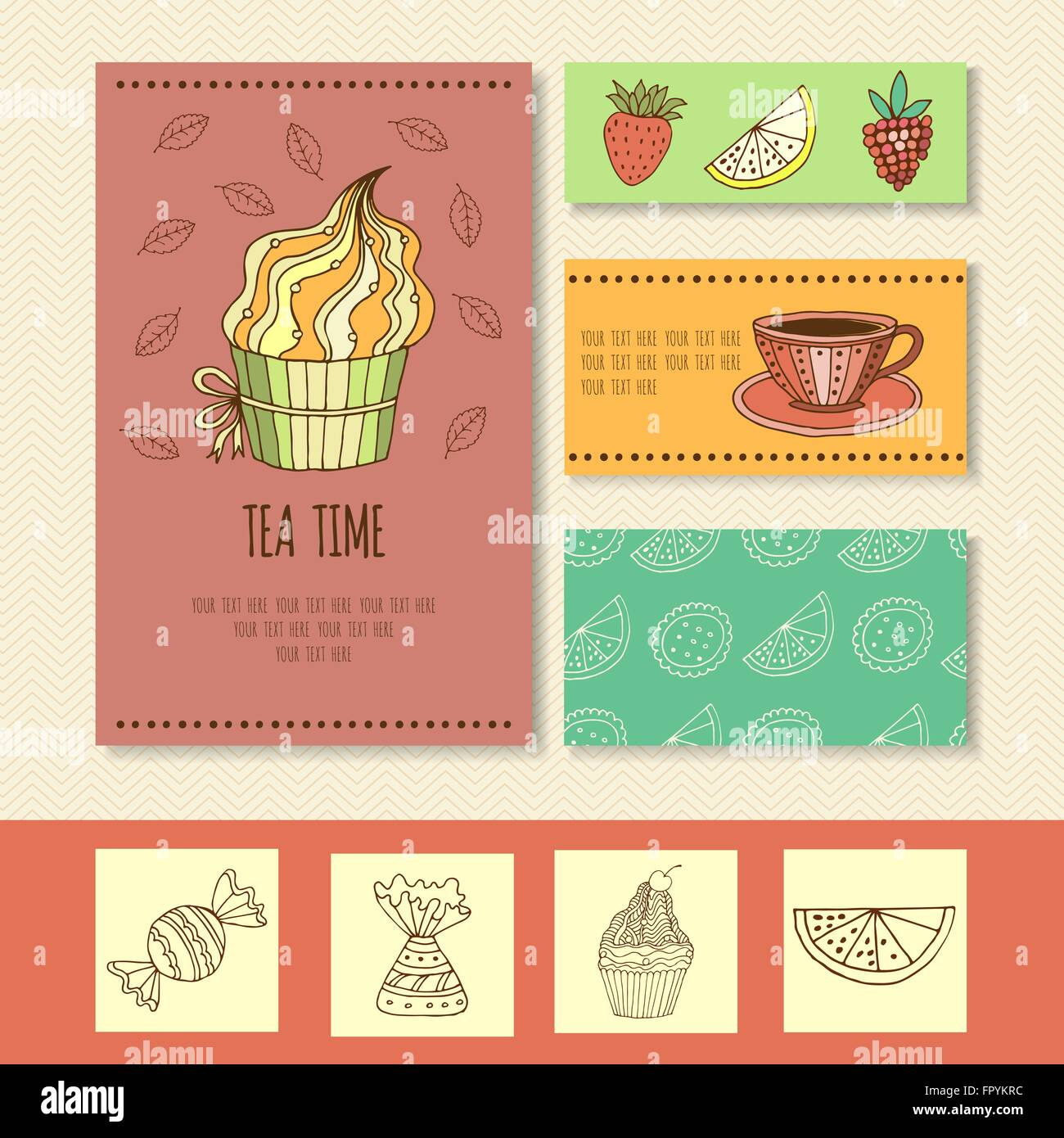 Invitation Card For Mad Tea Party Or Cute Funny Business Card For
