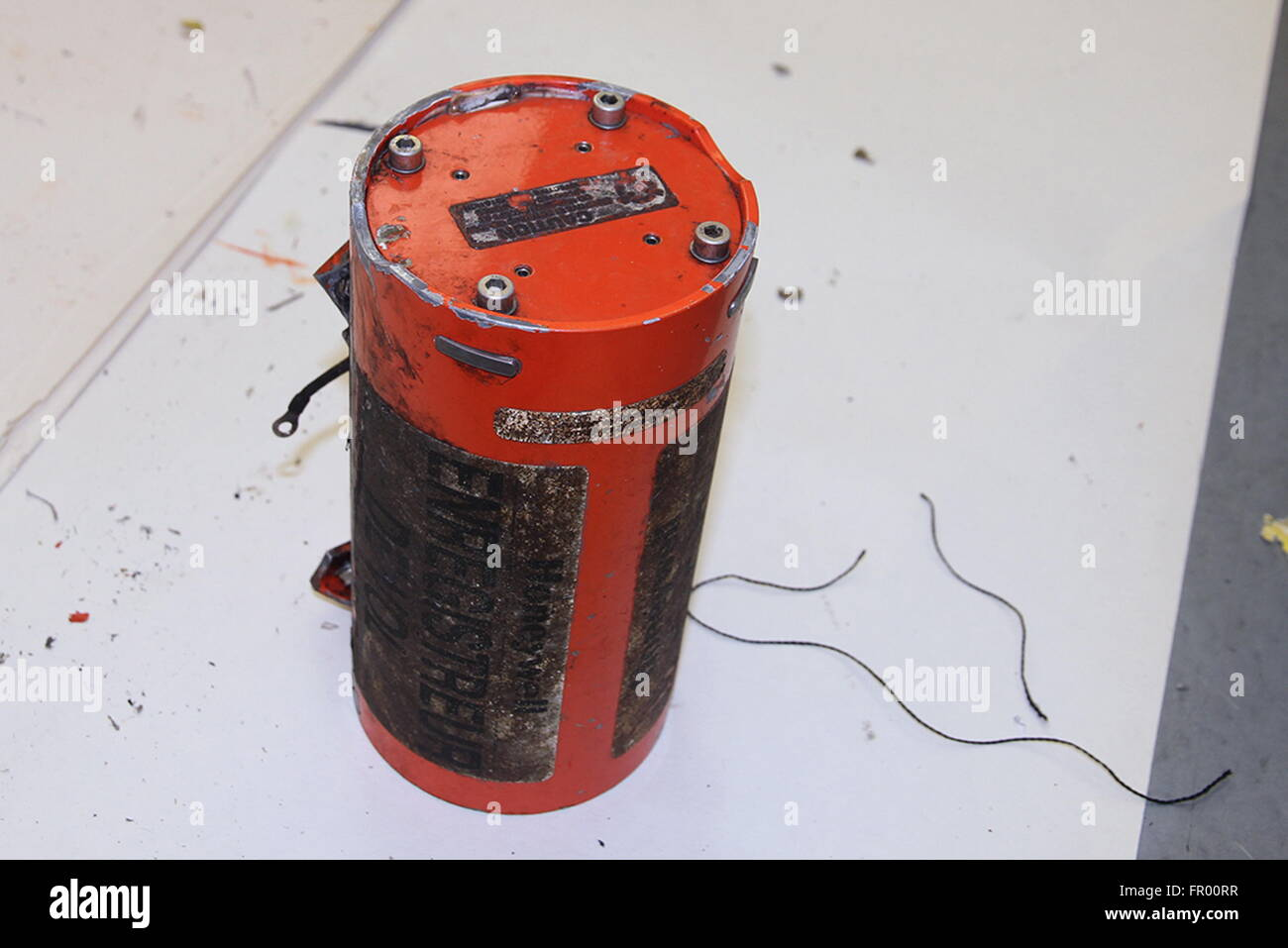 Rostov On Don, Russia. 20th Mar, 2016. Pictured in this image is one of the two black box flight recorders recovered - Stock Image