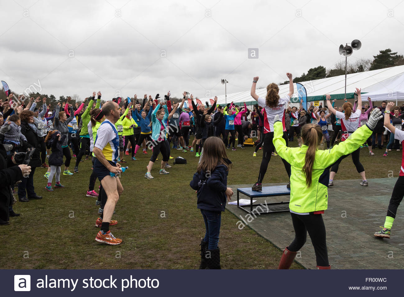 Fleet, Hampshire UK. 20th March 2016. 3,500 runners take part in the annual Fleet Half-Marathon. A team from the - Stock Image