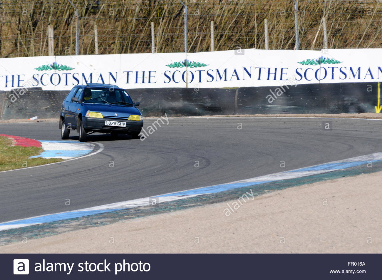 Dunfermline, UK. Sun 20th March, 2016. Cornering on the limit at Scotsmans during the trackday where car enthusiasts - Stock Image