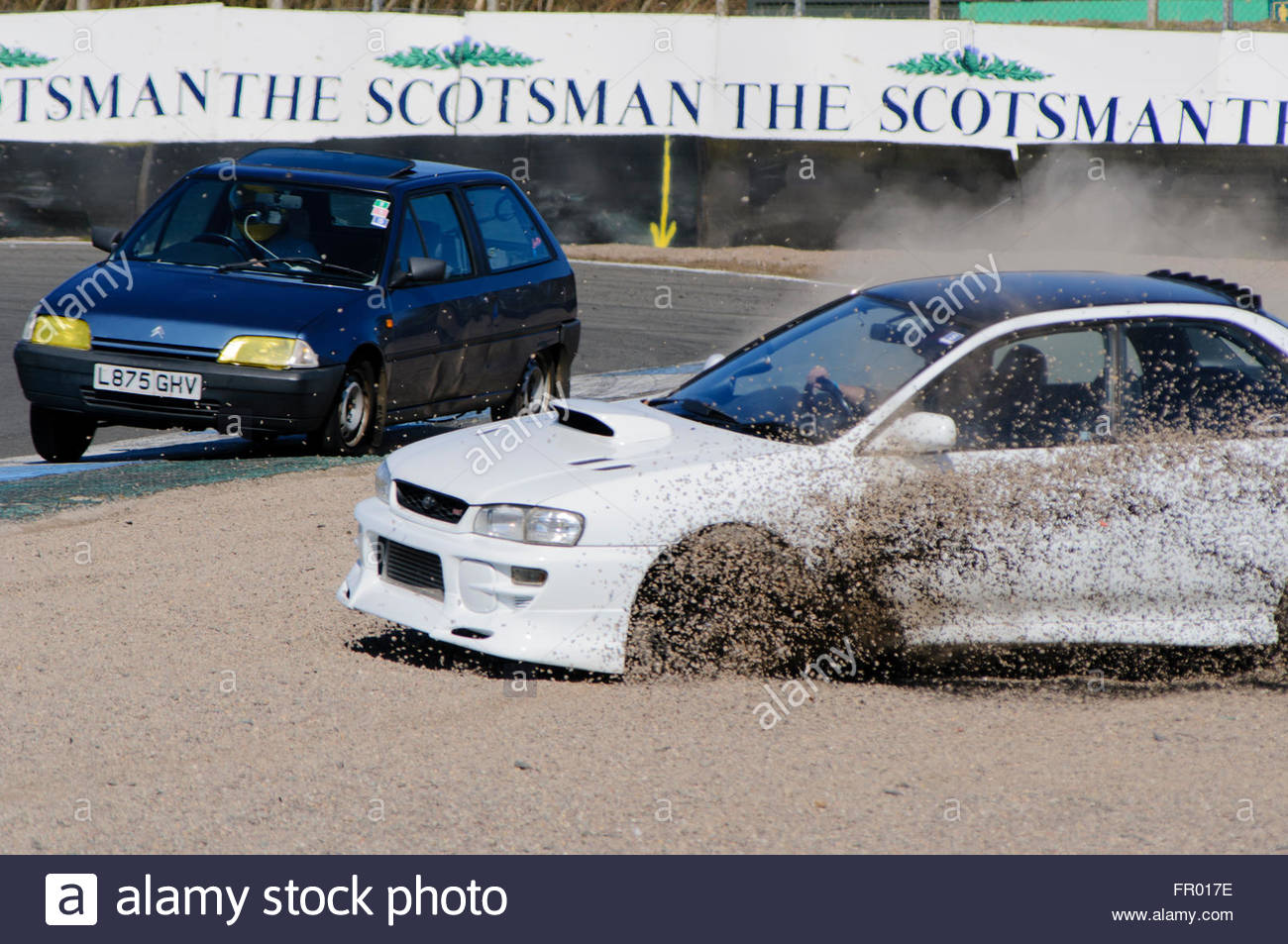 Dunfermline Uk Sun 20th March 2016 Into The Gravel Trap At Stock