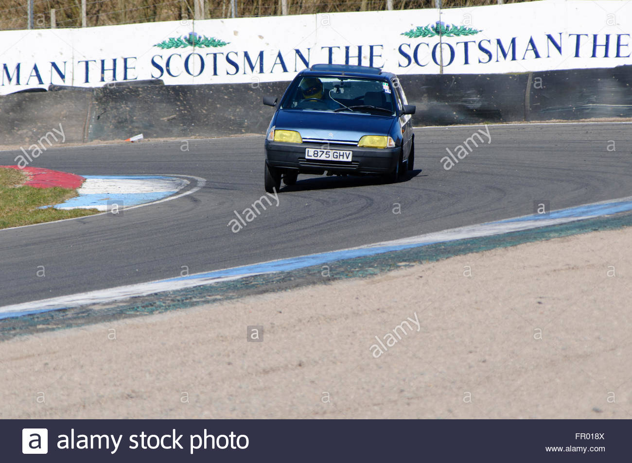 Dunfermline Uk Sun 20th March 2016 On The Limit Cornering At