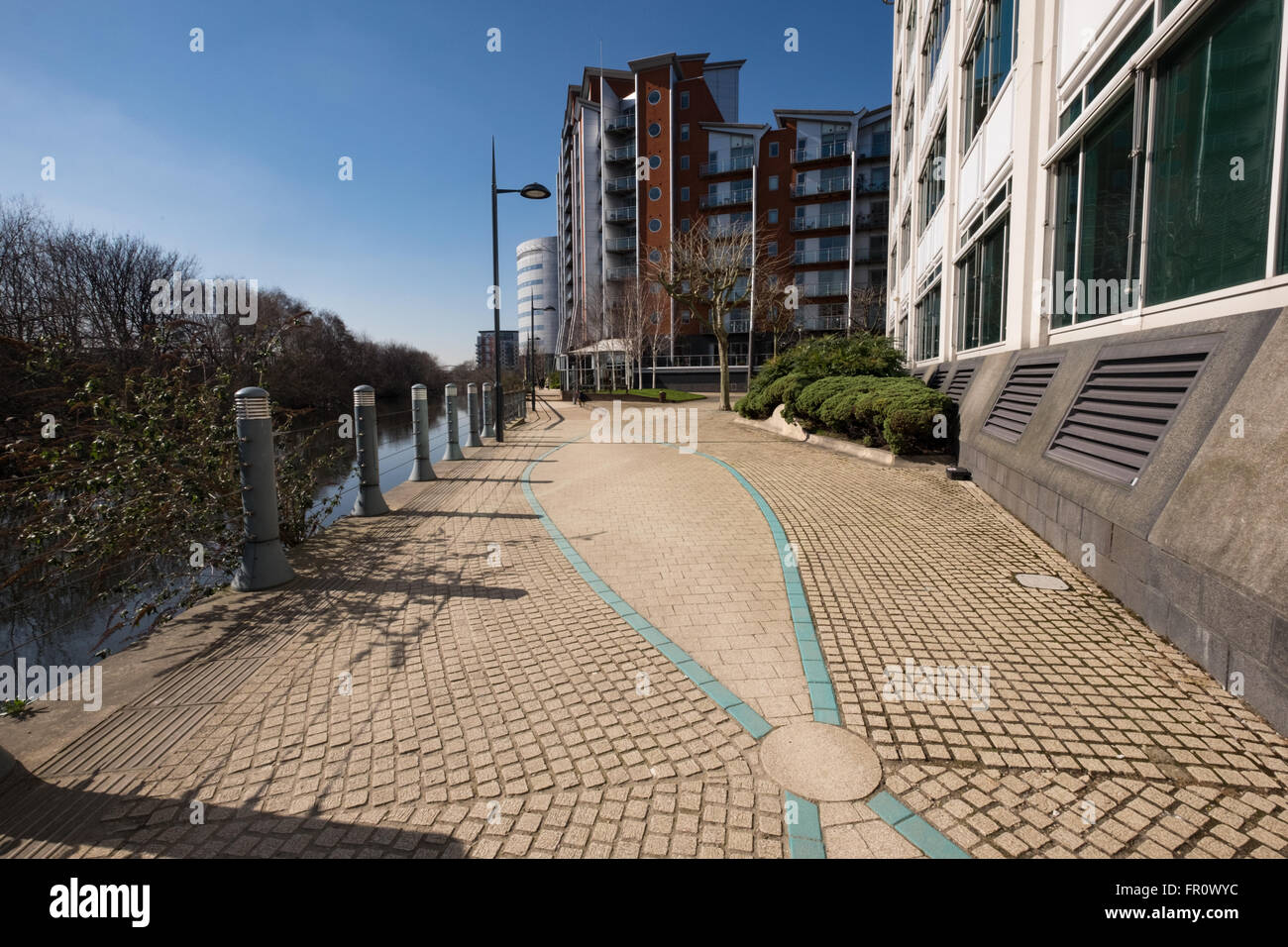 Leeds waterfront area - Stock Image