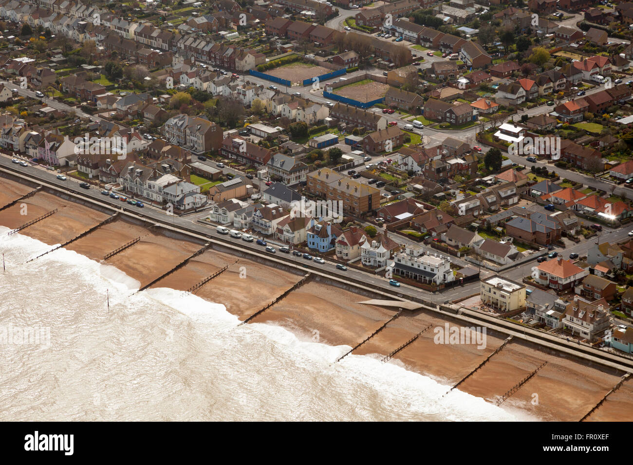 Aerial view of Deal Kent - Stock Image