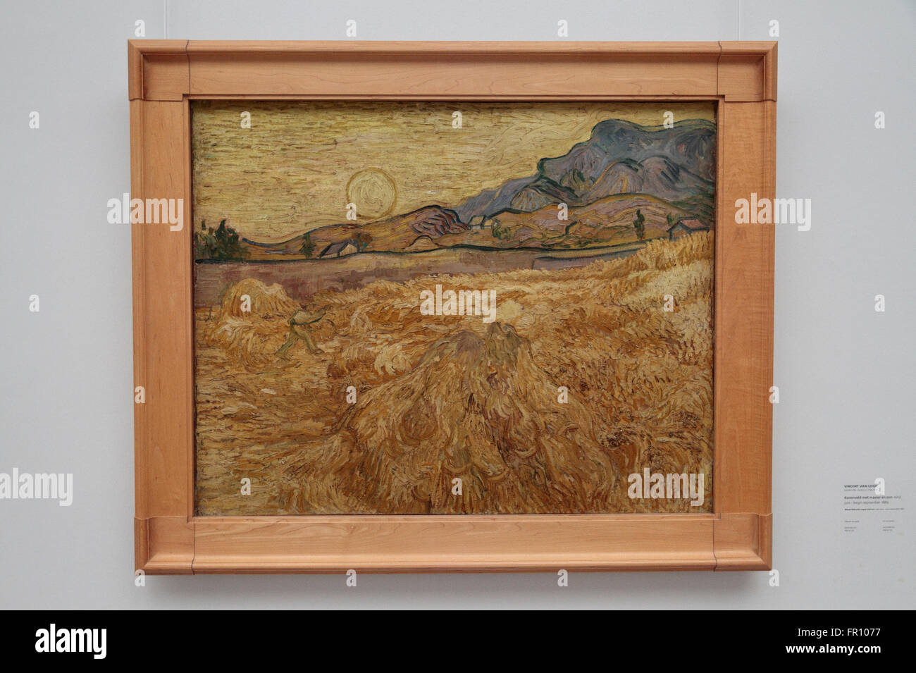'Wheat field with reaper and sun' by Vincent van Gogh in the Kröller-Müller Museum, Otterlo, Netherlands. - Stock Image