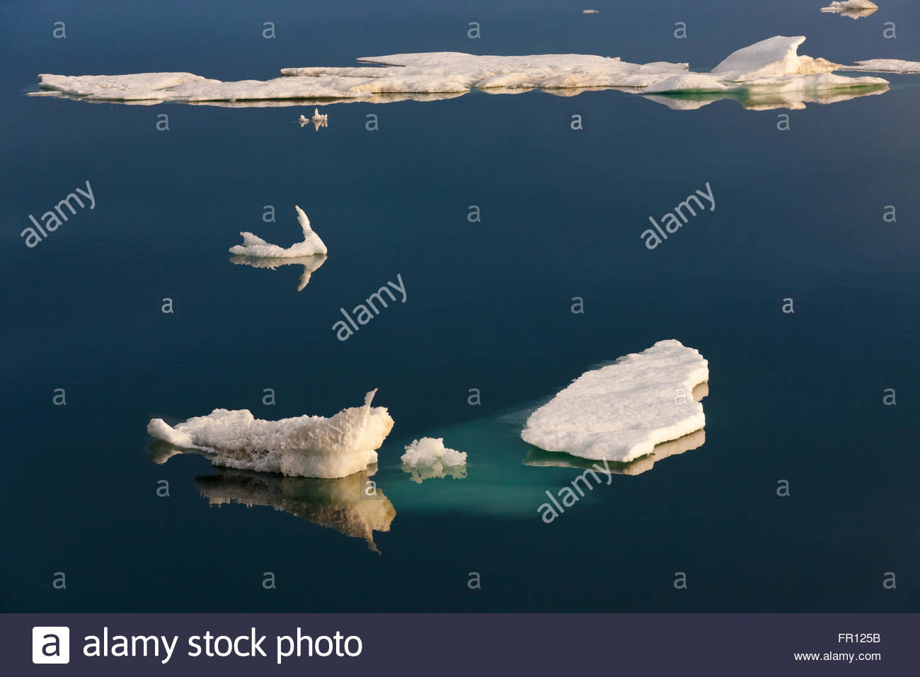 Floating ice in Chukchi Sea, Russia Far East - Stock Image