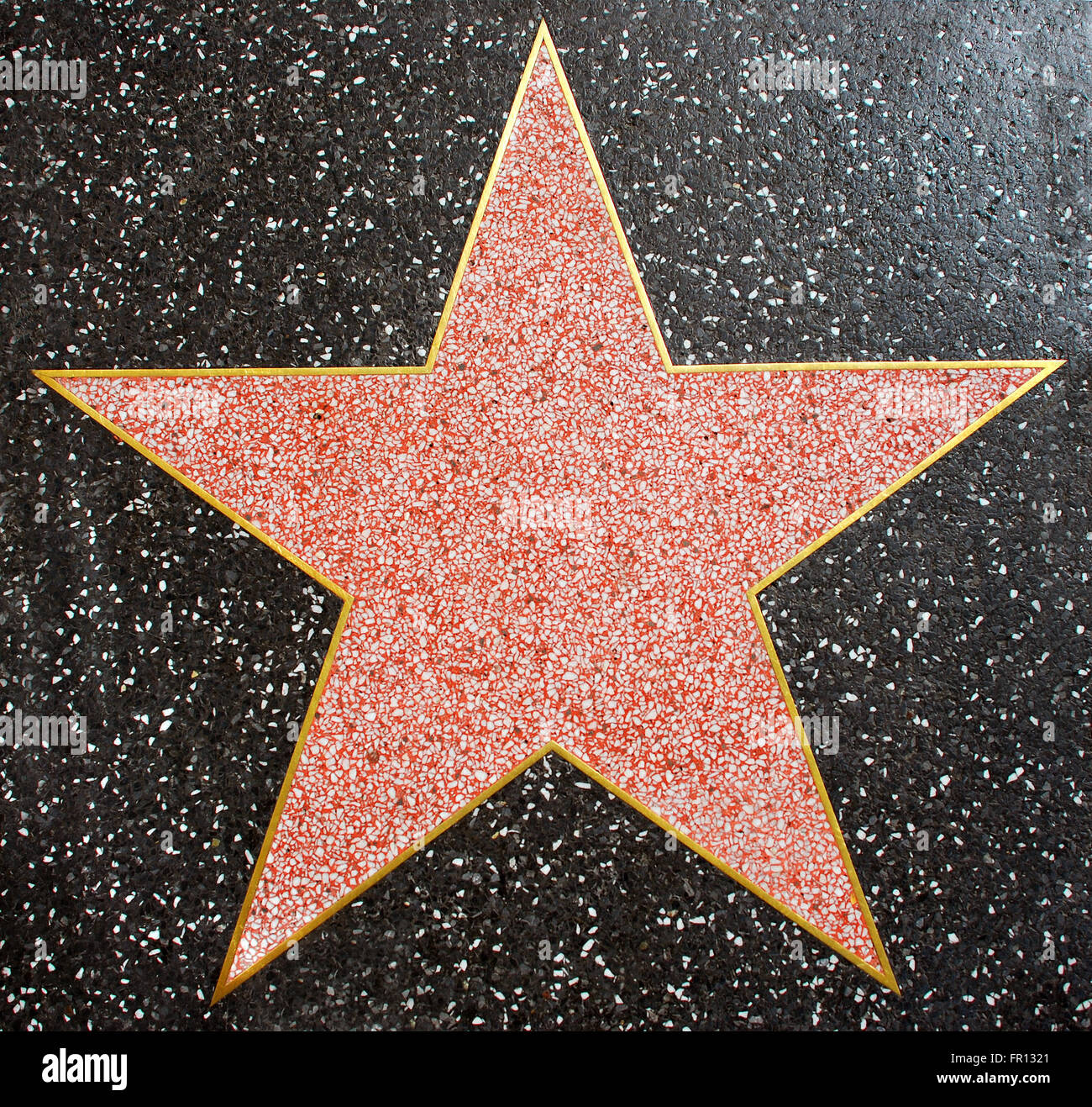 Yellow Room A Blank Hollywood Star On The Walk Of Fame Stock Photo